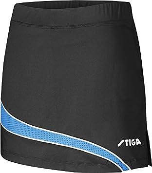 Tenis de Mesa Ropa: Stiga Falda Mercurio - Negro/Diva Azul Talla S ...