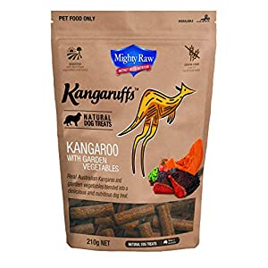 Mighty Raw Kangaruff Kangaroo with Garden Vegetables 210 g, Click on image for further info.