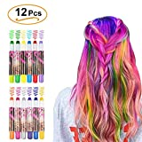 WloveTravel Hair Chalk for Girls Kids Gifts, Girls DIY Temporary Hair 12pcs Colour Hair Chalk Set Hair Color Pens
