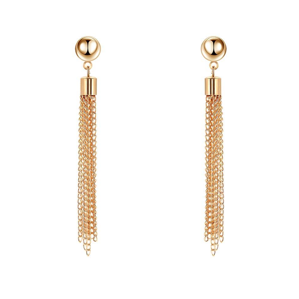 Wnakeli Earrings Women Long Tassels Dangle Earrings Vintage Style Jewelry Earrings Pendant Accessories Anniversary Wedding Gift Birthday Party Date Daily Wearing 1Pair
