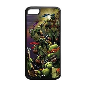 LINMM58281Custom Cartoon TMNT Teenage Mutant Ninja Turtles Case for iphone 5/5s Rubber Cover Case-iphone 5/5sTMNT085MEIMEI
