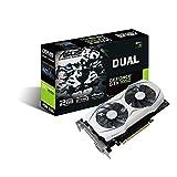 ASUS Geforce GTX 1050 O2GB Dual-Fan Edition DVI-D HDMI DP 1.4 Gaming Graphics Card (DUAL-GTX1050-O2G) Graphic Cards