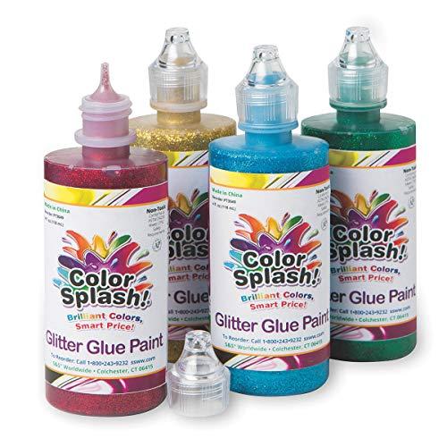 S&S Worldwide 4-oz. Color Splash Glitter Glue Assortment (Set of 4) ()