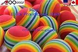 36pcs EVA ball foam ball rainbow practice golf training aids or cat toy