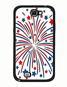 Epic Red Blue Fireworks On Best Durable Protector Case for Samsung Galaxy Note 2 N7100