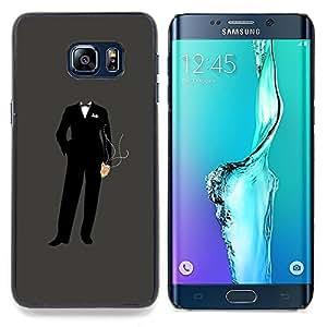 "Qstar Arte & diseño plástico duro Fundas Cover Cubre Hard Case Cover para Samsung Galaxy S6 Edge Plus / S6 Edge+ G928 (Anonymous Traje"")"