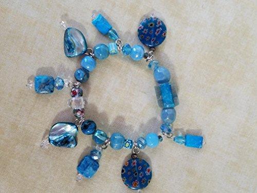Aqua Tone Elastic Bracelet (Bracelets Murano Aqua)