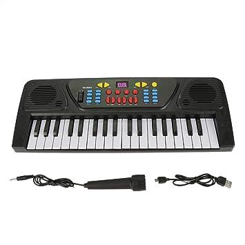 GLOGLOW Juguete para niños con micrófono, Instrumento Musical de Piano, Teclado eléctrico, Teclado Digital de 37 Teclas: Amazon.es: Juguetes y juegos