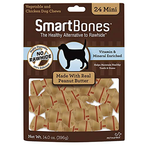 SmartBones Mini Peanut Butter Chews (24 Pack)