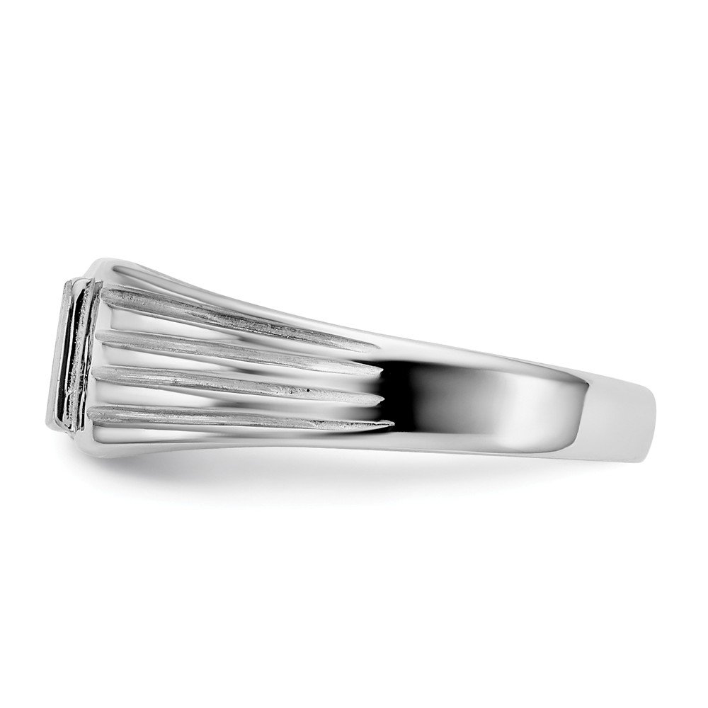 FB Jewels Solid 14K White Gold Childs Signet Ring Size 5.5