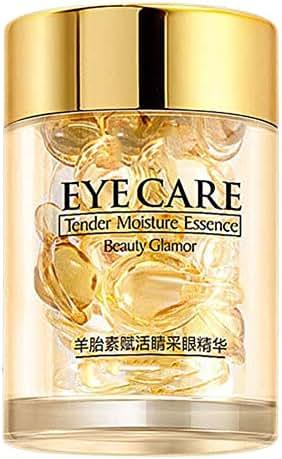 Angmile Sheep Placenta Eye Sera Capsules Moisturizing Nourishing Anti-Aging Lighten Dark Circles Eyes Skin Care Essence Capsules 30 Grains/Box