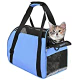 TIYOLAT Pet Carrier Bag, Airline Approved Duffle Bags, Pet Travel Portable Bag Home for Little Dogs, Cats and Puppies, Small Animals 40 x 20x 30cm(Blue)