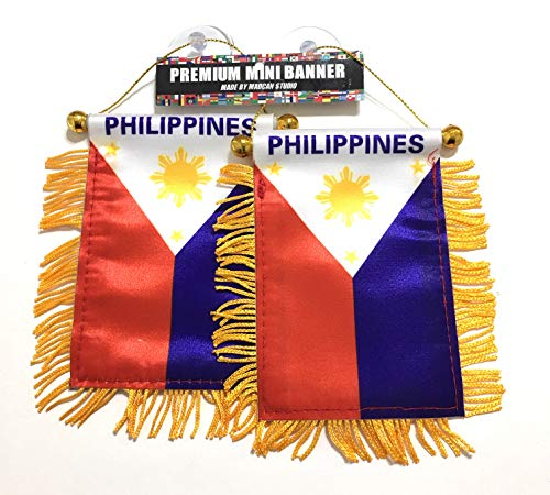 (Philippines Car Flags Filipino 2pc Family and Friend Pack)