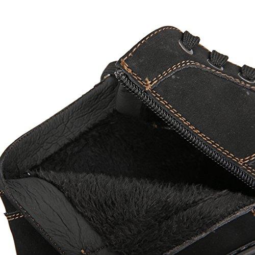 Stringate cappotto Scarpe da foderato Basse Scarpe Gracosy fodera Desert cotone All'aperto in Scarpe Desert Boots Boot Nero Stringate da uomo Pelle Invernali Stivali Caldo Casuale AwRnxBH7q