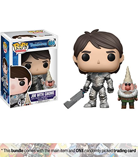 Jim w/ Gnome: Funko POP! TV x Trollhunters Vinyl Figure + 1 American Cartoon Themed Trading Card Bundle [#466]