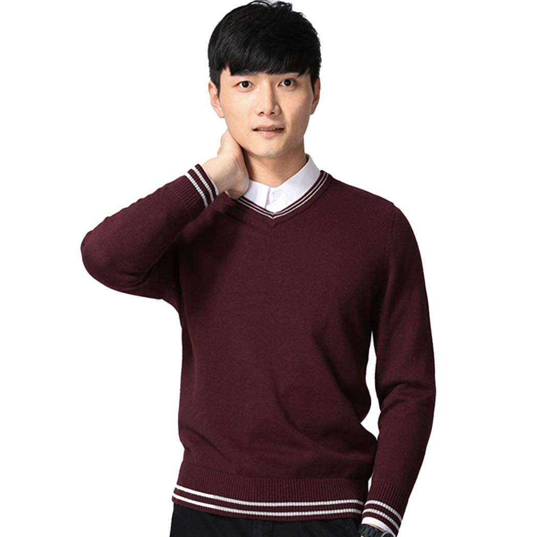 MIOIM Men's Classic Sweater Jumper Winter Knitwear Sweatshirt Knitted Pullover Tops