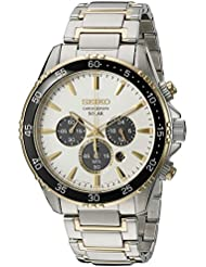 Seiko Mens Chronograph Quartz Stainless Steel Dress Watch (Model: SSC446)