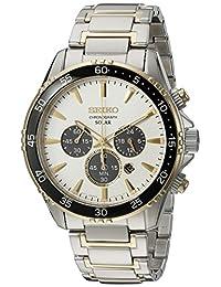 Seiko Men's SSC446 Chronograph Analog Display Japanese Quartz Two Tone Watch