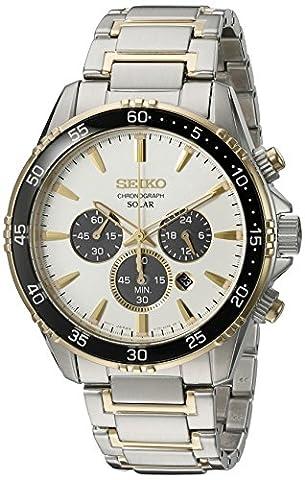 Seiko Men's 'Chronograph' Quartz Stainless Steel Dress Watch (Model: SSC446) (Chronograph Seiko)