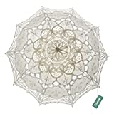 TopTie Wedding Lace Parasol Umbrella Victorian Lady Costume Accessory Photo Prop-Beige-12 pcs