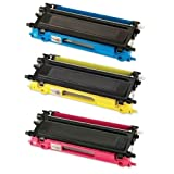 HI-VISION HI-YIELDS ® Compatible Toner Cartridge Replacement for Brother TN210 (1 Cyan, 1 Yellow, 1 Magenta, 3-Pack), Office Central
