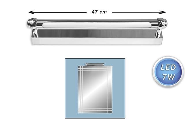 Vetrineinrete® lampada da specchio led 7 watt lunga 47 cm