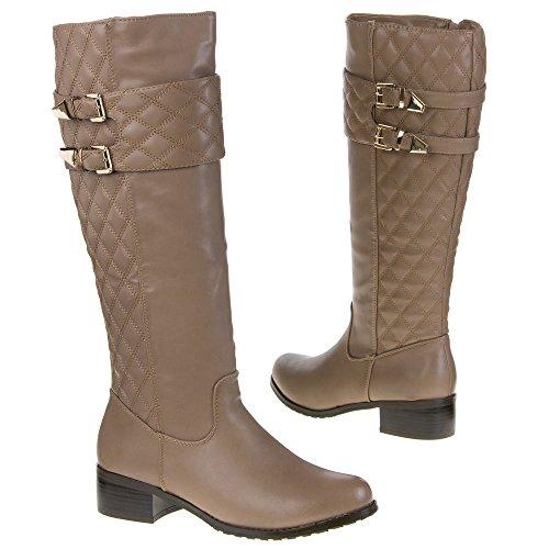Mujer Guantes, QQ de 21, botas marrón y gris