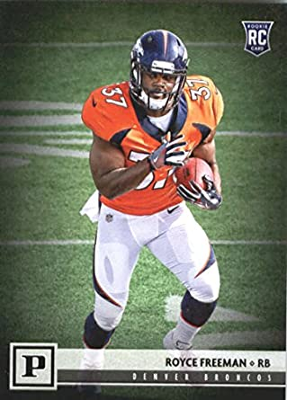 sports shoes dfc60 863d1 2018 Panini #349 Royce Freeman Denver Broncos Rookie Football Card