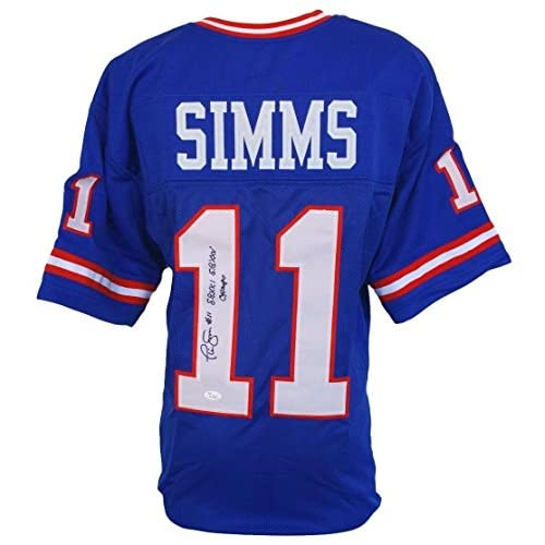 f5dd6be6ea96 Autographed Phil Simms Jersey - Custom Inscribed S B Champs ITP - JSA  Certified - Autographed NFL