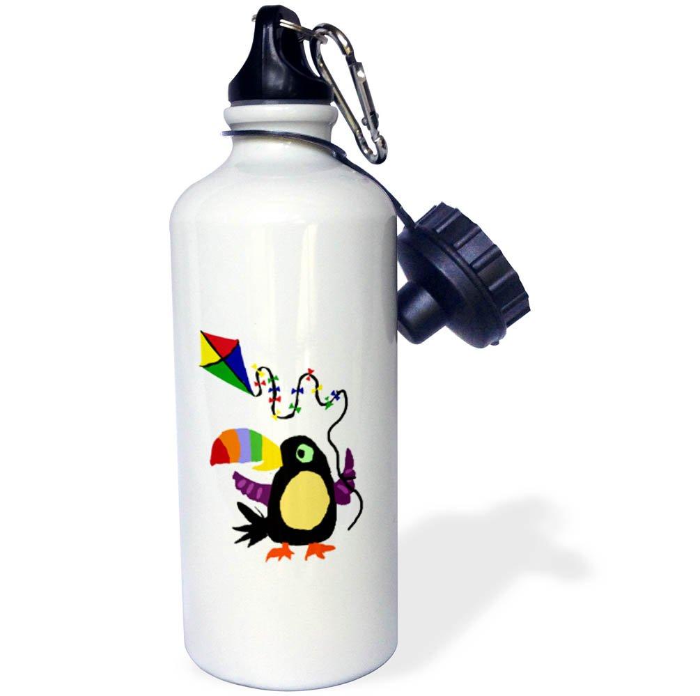 White 3dRose wb/_255830/_1Swedish Flag Old Look Trendy Work Water Bottle