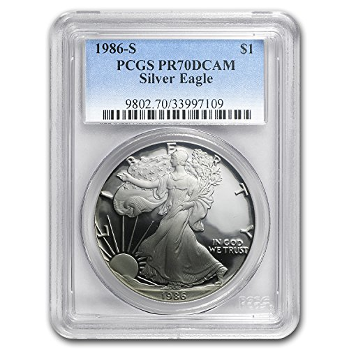 1986 S Proof Silver American Eagle PR-70 PCGS (Registry Set) PR-70