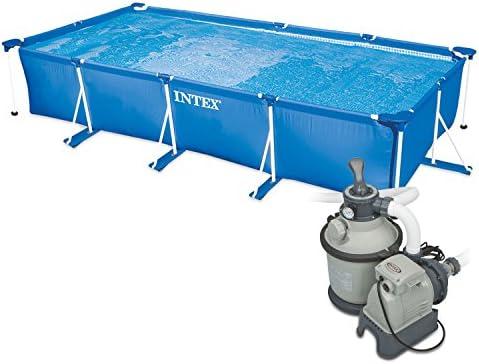 Intex 260 x 160 x 65 cm Frame Pool Set Family Filtro de Arena ...