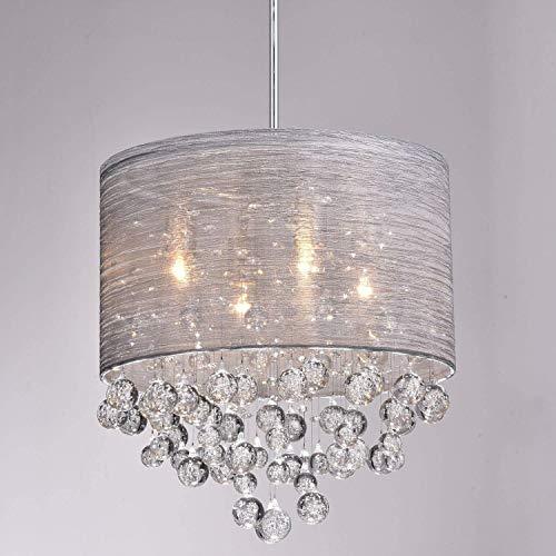 CLAXY Ecopower Lighting Metal Crystal Pendant Lighting Modern Chandelier for Kitchen