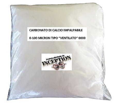 1Kg Carbonato de calcio muy fino impalpable 0-100 micrones - Polvo de mármol Caco3 - Inert para resina y yeso - Útil para suelos Ph - Zootecnia - ...
