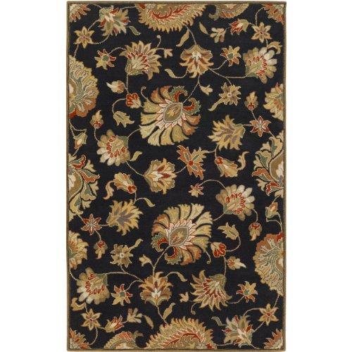 surya caesar cae1027 classic hand tufted 100 wool coal black 2u0027 x 3u0027 traditional accent rug