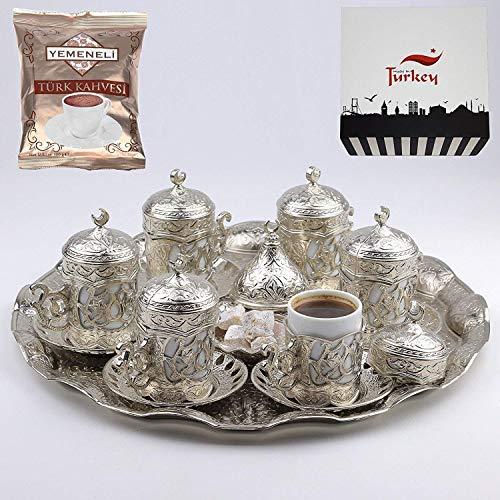 27 Pc Ottoman Turkish Greek Arabic Coffee Espresso Serving Cup Saucer (Sultan)