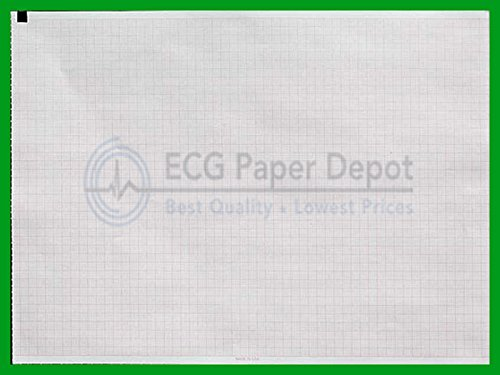 Welch Allyn Compatible 94002-000 Generic ECG Paper 8 Pack, Z-Fold, Red Grid, 210mm x 280mm