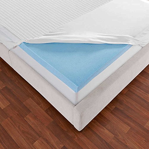 Novaform 3″ EVENcor GelPlus Gel Memory Foam Mattress Topper with Cooling Cover (Queen)