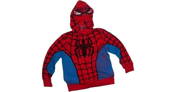 Amazon.com: Spider-Man Traje – -Marvel Hoodie Zipper-Fleece ...