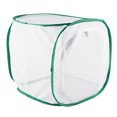 Fdit Large Butterfly Cage,Collapsible Caterpillar Habitat Collapsible Insect and Butterfly Habitat Mesh Cage with Zipper Butterfly House(303030cm): Home & Kitchen