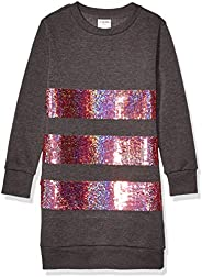 Amazon Brand - Spotted Zebra Girls French Terry Long-Sleeve Dresses