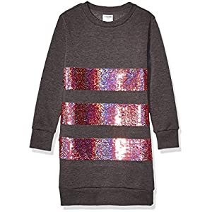 Best Epic Trends 51-a9QXNRcL._SS300_ Amazon Brand - Spotted Zebra Girls' French Terry Long-Sleeve Dresses