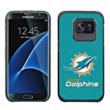 NFL Miami Dolphins True Grip Football Pebble Grain Feel Samsung Galaxy S7 Edge Case
