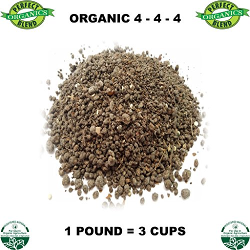 Perfect Blend Organic Fertilizer 4-4-4-15 Pounds - Like it Bag - 45 Cups