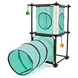 Kitty City SPO-0583 Steel Claw Passage Cat Furniture, Teal/Brown