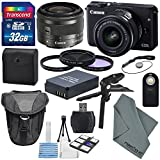 Canon EOS M10 Mirrorless Digital Camera with EF-M 15-45mm f/3.5-6.3 IS STM Lens and Deluxe Accessory Bundle For Sale