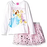 Disney Little Girls' Princess Skirt Set, Eggshell, 6X