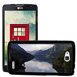 Etui Housse Coque de Protection Cover Rigide pour // M00150829 Lago Paisaje Mountain Sky // LG Optimus L90 D415