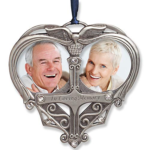 Parents Ornament - BANBERRY DESIGNS Memorial Photo Ornament - Double Picture Opening - In Loving Memory Christmas Ornament - Loss of a Loved One Gift - Remembrance Ornament - Bereavement Gifts