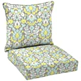 Hampton Bay Phyllis Welted Deep Seating Outdoor Dining Chair 100% Polyester Filled Cushion Set